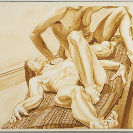 Lot 032: Philip Pearlstein Watercolor on Paper