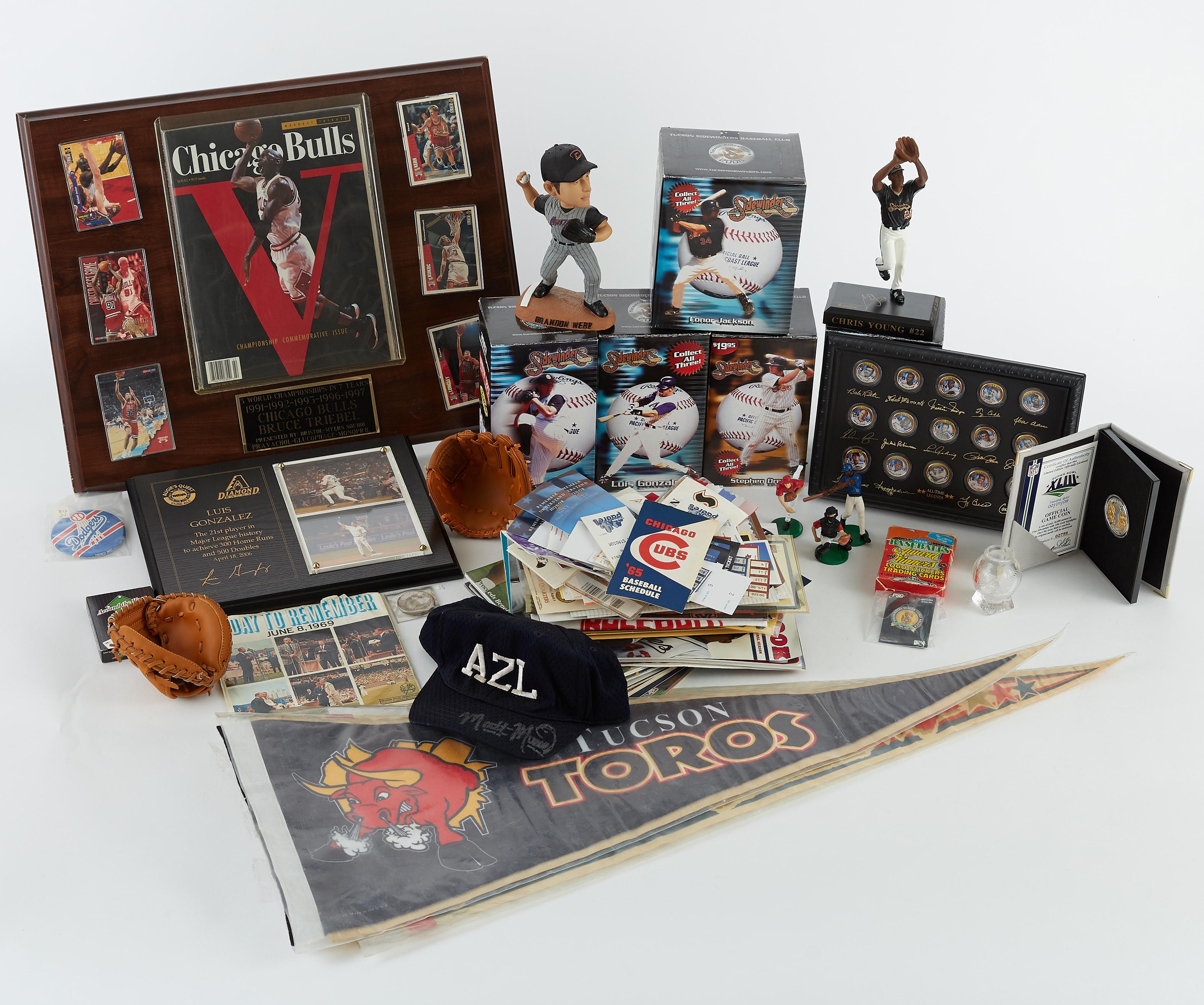 Lot 277: Large Group of Sports Memorabilia Michael Jordan David Ortiz