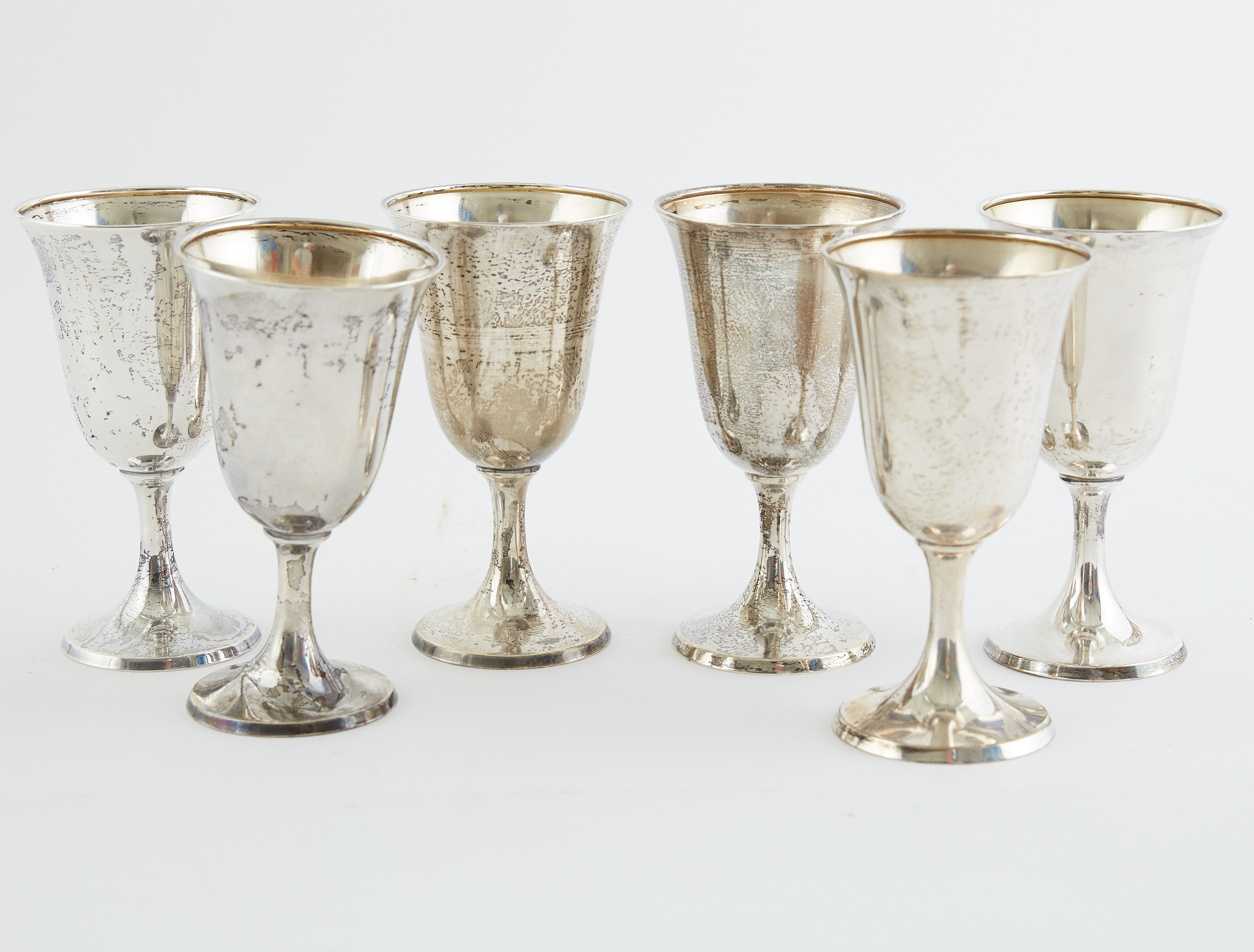 Lot 261: Set 5 International Sterling Silver Wine Cups