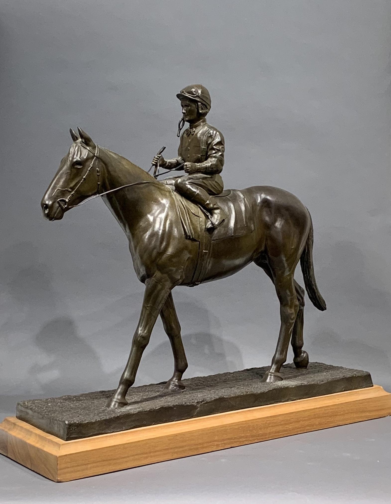 """Lot 266: Robert Christie """"Class on Class"""" Exceller Bronze Equestrian Sculpture"""
