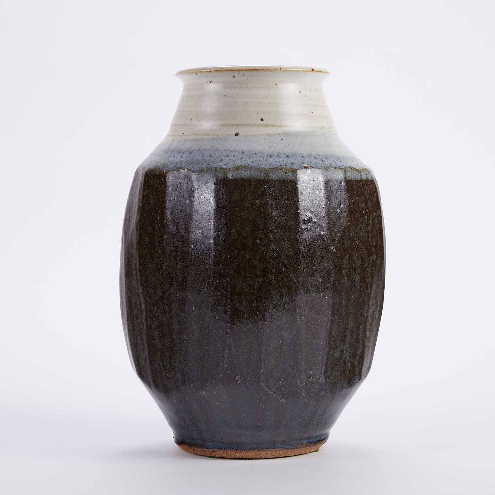 Lot 010: Warren MacKenzie Fluted Studio Pottery Vase