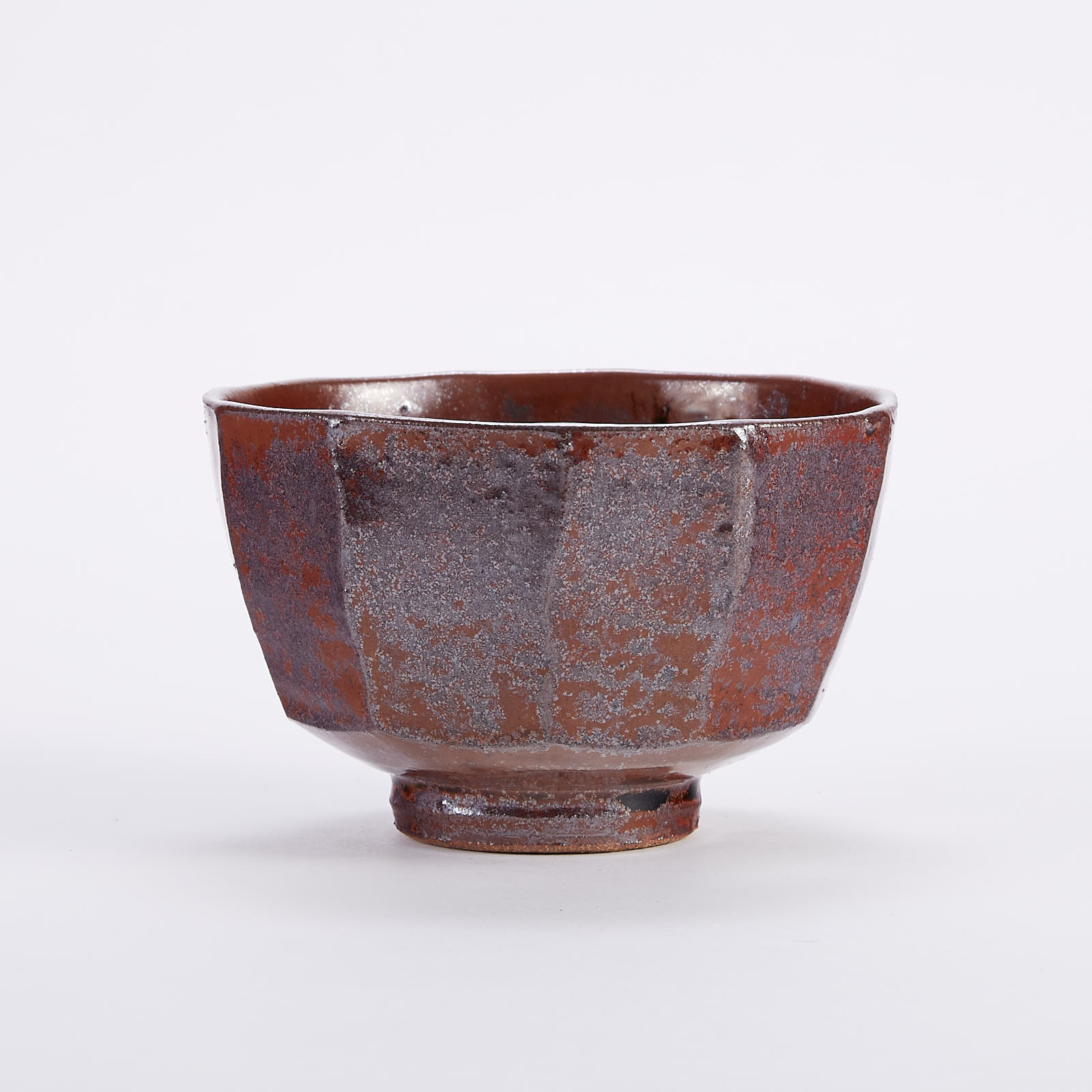 Lot 002: Warren MacKenzie Studio Pottery Cut-Sided Copper Red Bowl