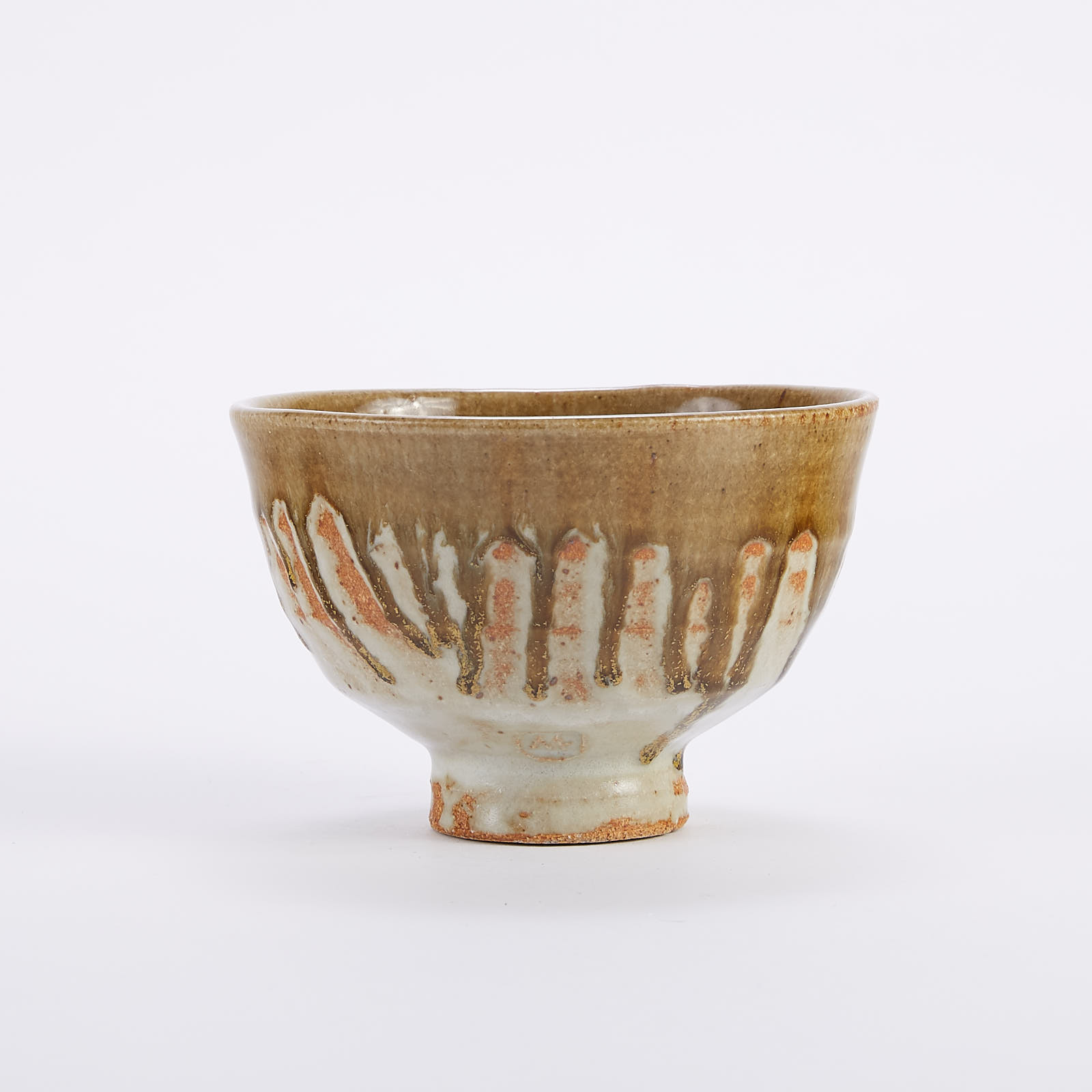 Lot 001: Warren MacKenzie Studio Pottery Bowl w/ Drip Glaze
