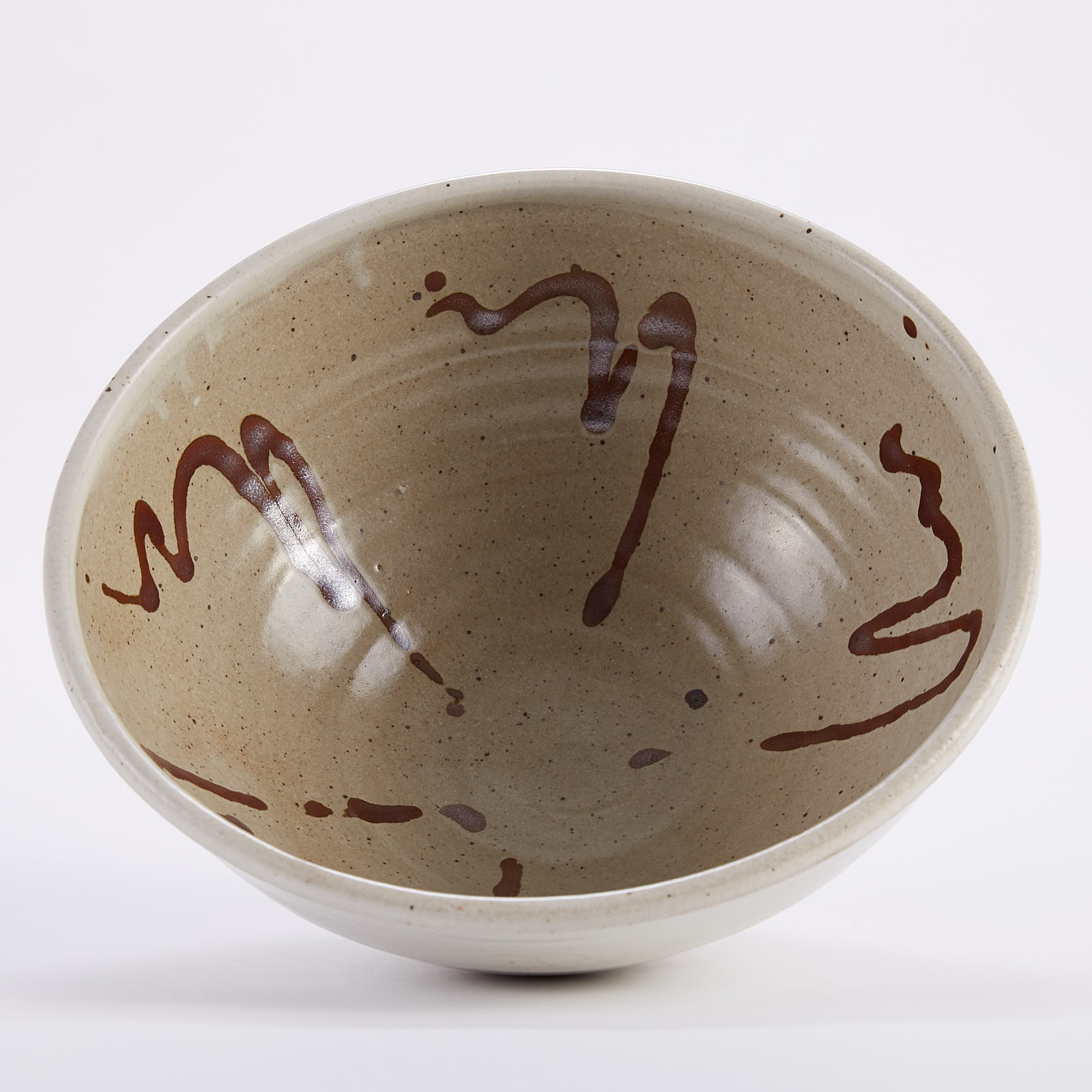 Lot 009: Warren MacKenzie Large Studio Pottery Bowl