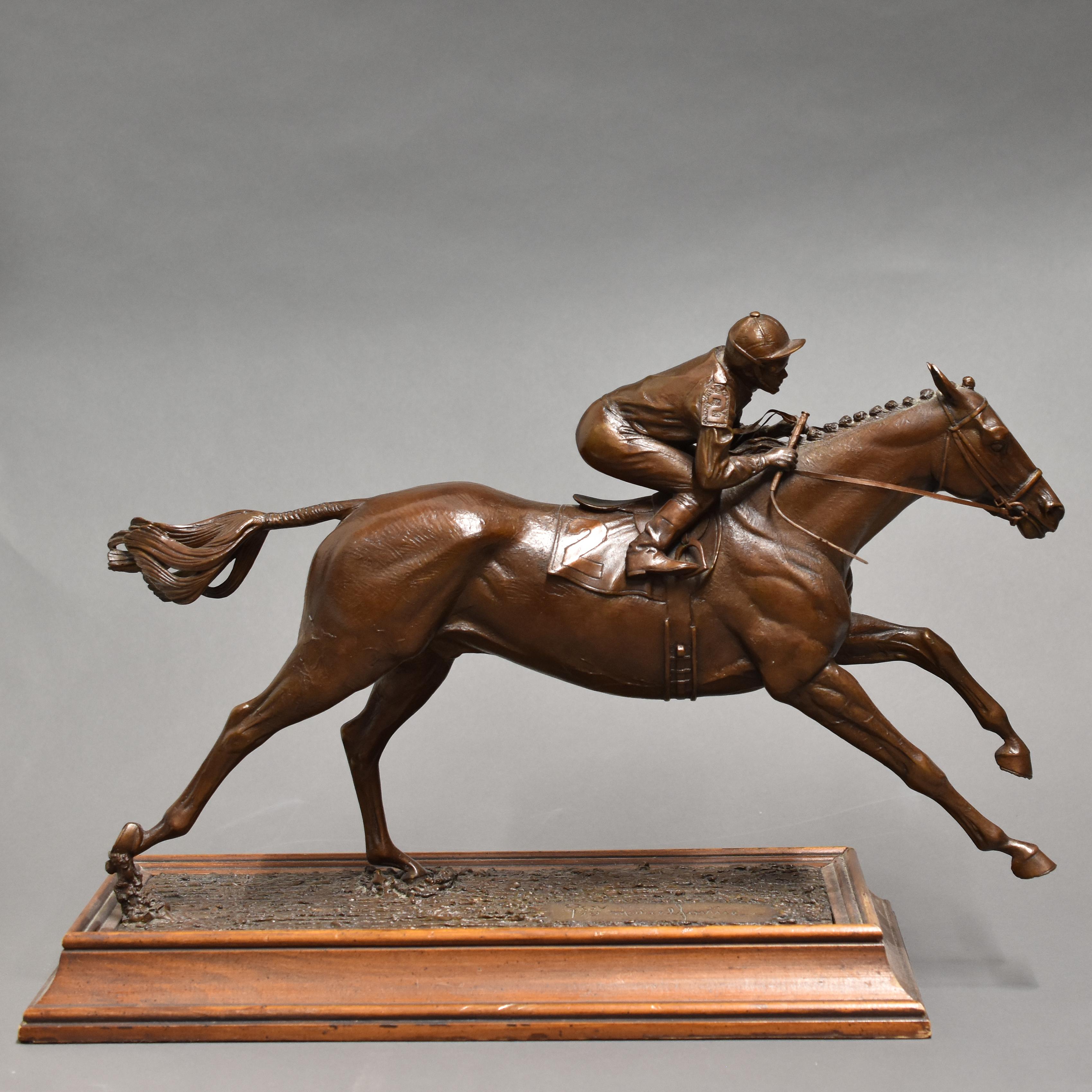 Lot 267: Marcel Jovine Bronze Equestrian Sculpture