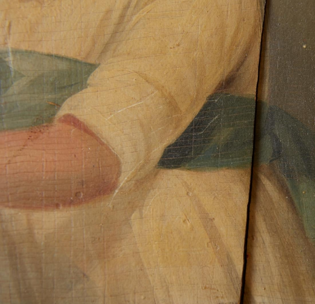 Damage to Old Painting