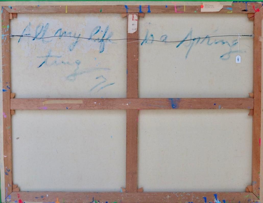 Walasse Ting Painting Verso